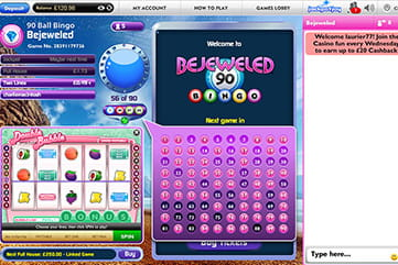 The Bejeweled Bingo Branded Game