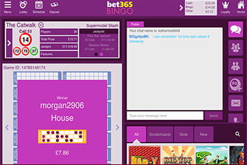 Bet365 Bingo Catwalk Room