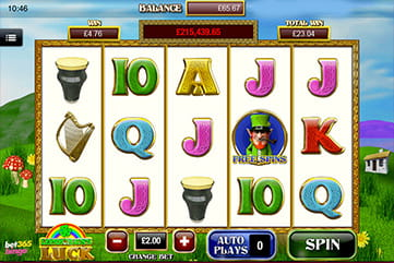 Bet365 Bingo Leprechaun's Luck Slot