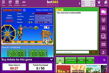 Bet365 Bingo Rainbow Riches Room