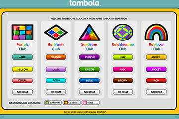 Choose your 90-ball room at tombola