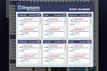 The Event Calendar of Bingocams
