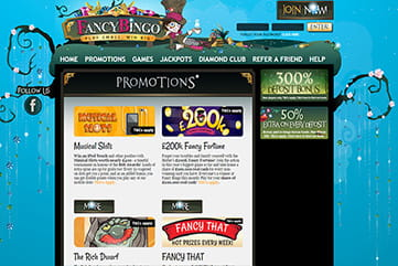 Huge jackpots and other promos on the site