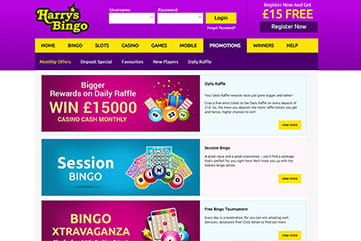 Promotions for all players on Harry's Bingo