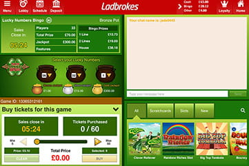 Lucky Numbers Bingo at Ladbrokes