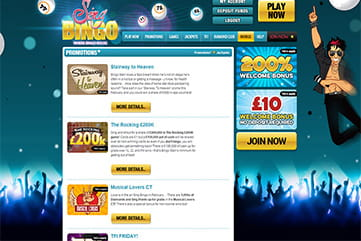 Special offers and ongoing promotions on Sing Bingo