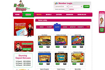 100s of slots and instants to pick from on Bobs Bingo