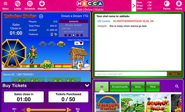 Rainbow Riches at Mecca Mobile