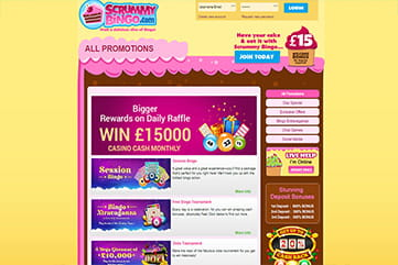 Ongoing promotions on Scrummy
