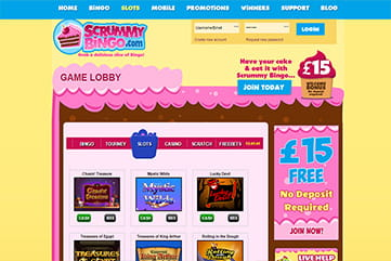 Scrummy Bingo offers many other games