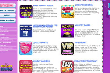 The Variety of Promotions on Cheers Bingo Site
