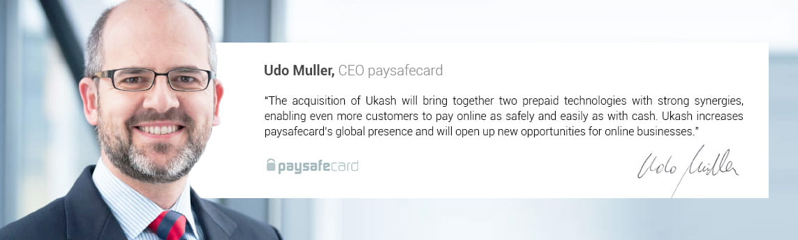 Udo Muller, CEO of Paysafecard, About the Ukash Acquisition