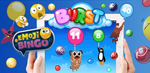 Burst Bingo can be played at Mecca for mobile